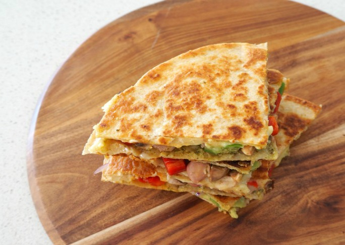 Cheesy Vegetarian Quesadillas with Avocado