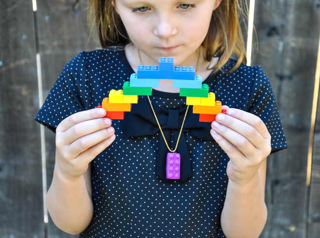 Polymer Clay LEGO Necklace