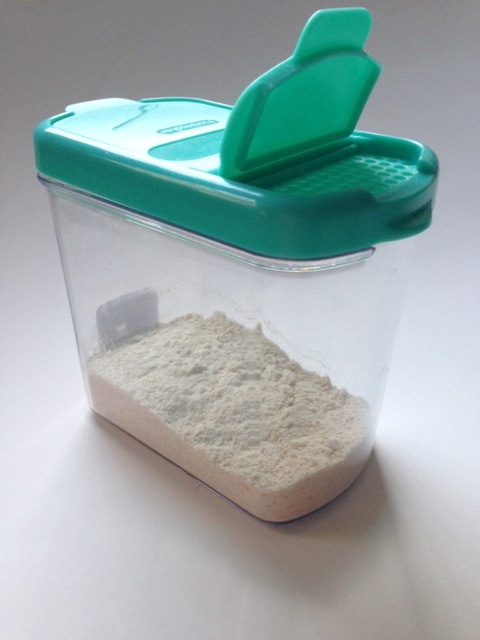 diy baby powder in a jar