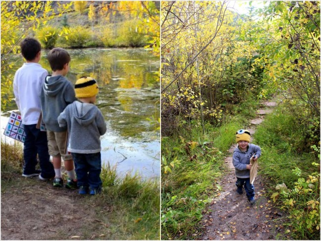 fall bingo hike_boys