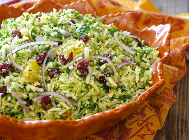 Make-Ahead Citrus- Marinated Brussels Sprout-Cranberry Salad - Momtastic