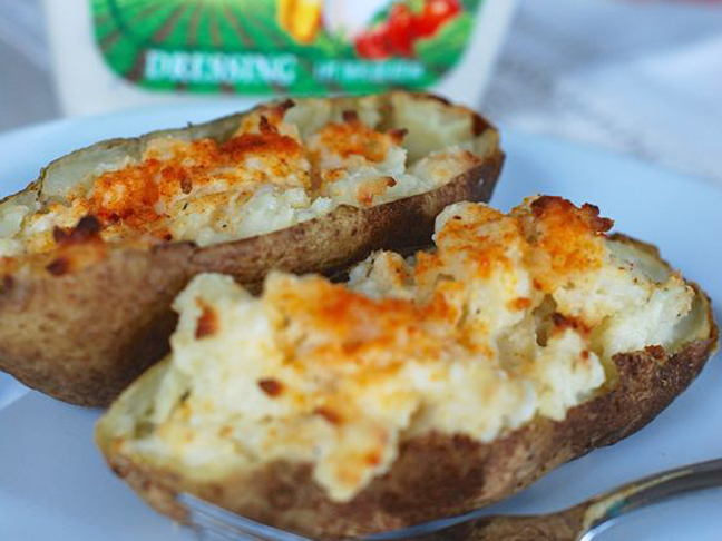 Ranch Twice Baked Potatoes Recipe