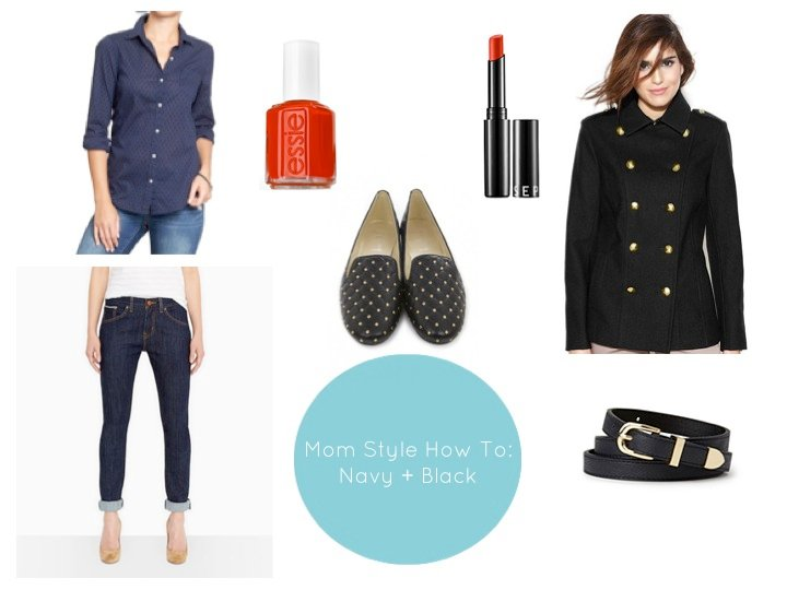 navy and black trend