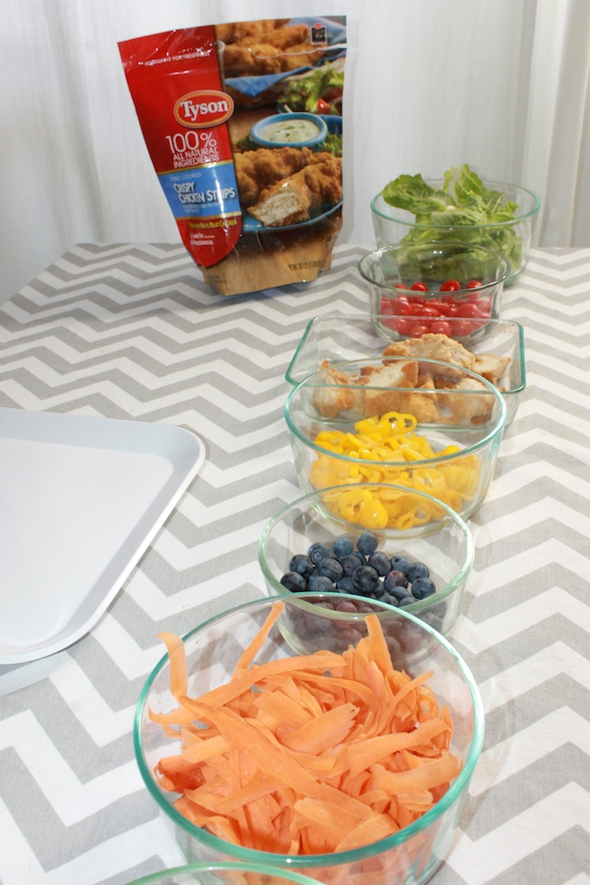 Colorful food on table