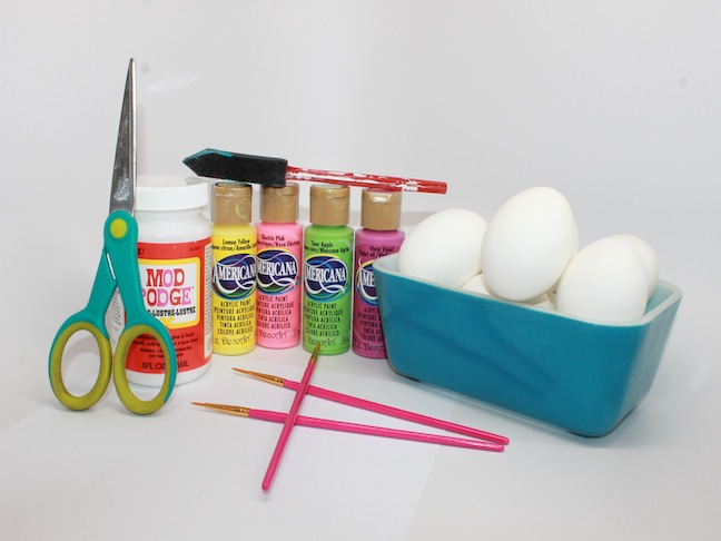 craft supplies and materials needed for easter egg craft