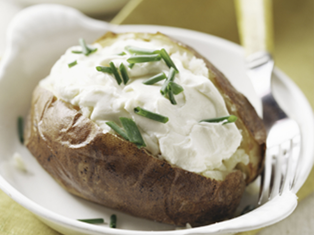 baked potato sour cream chives