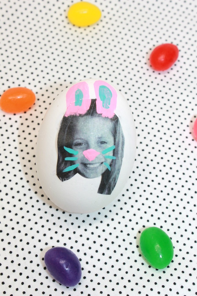 paint bunny rabbits on easter eggs