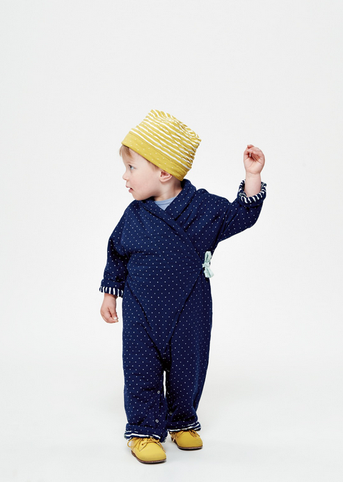 blue jumpsuit for toddlers with yellow shoes and hat