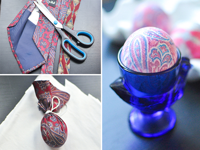 How To Dye Easter Eggs Using Old Silk Neckties (Yes, Ties!)