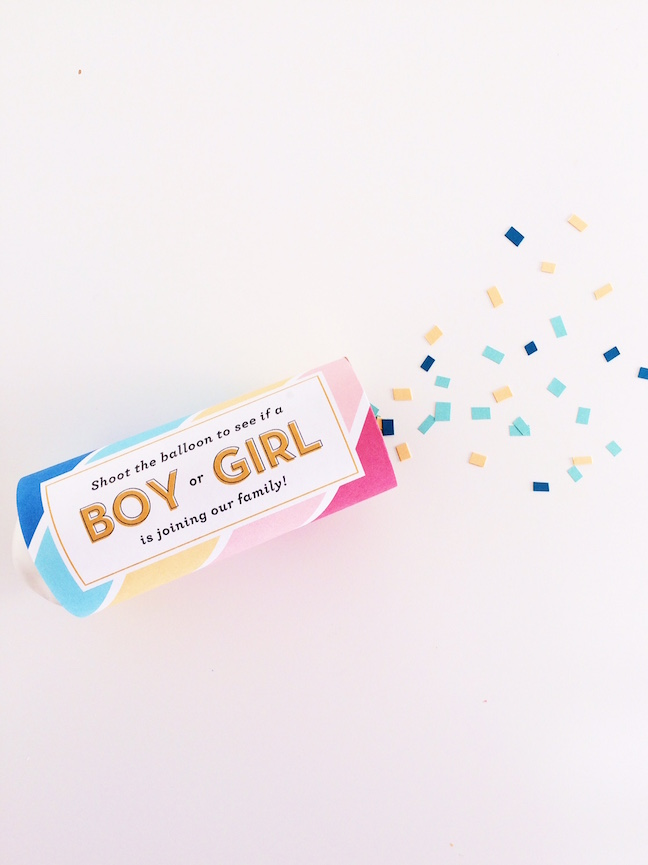 DIY Gender Reveal Confetti Cannons