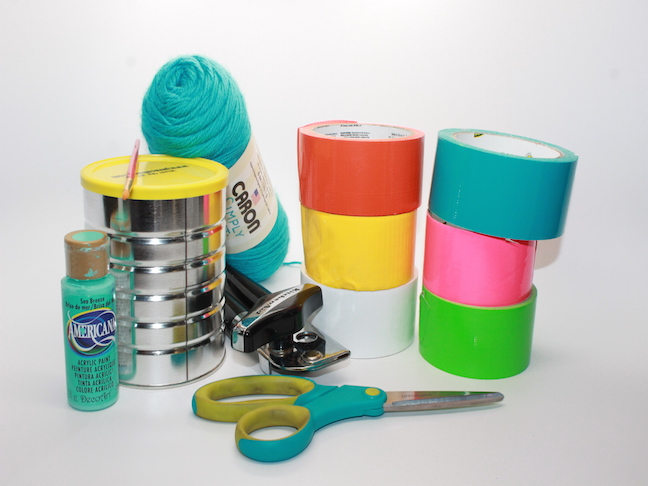 materials Duct Tape DIY Recycled Can Birdfeeder craft