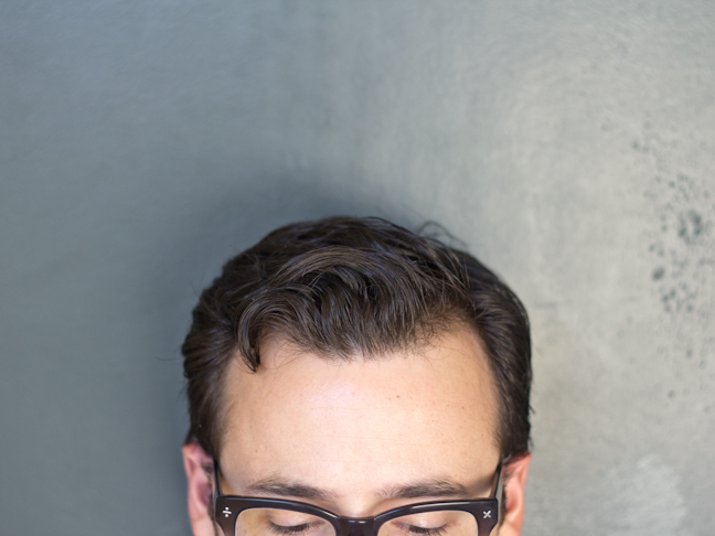 DIY hair pomade in hair