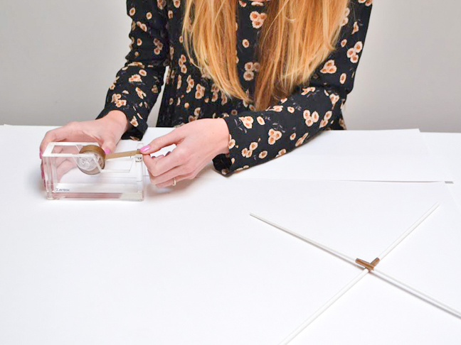 how-to-make-paper-kite-gold-tape