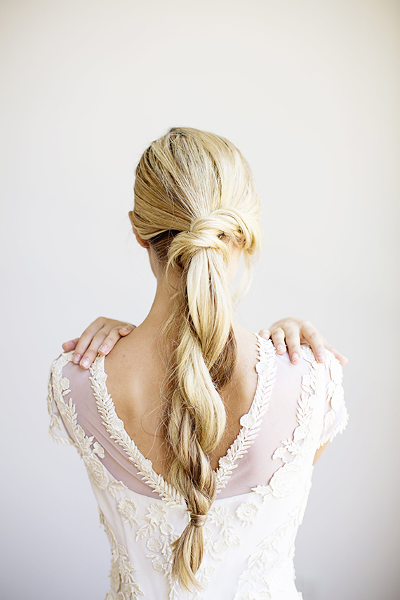 loose rope braid blonde hair