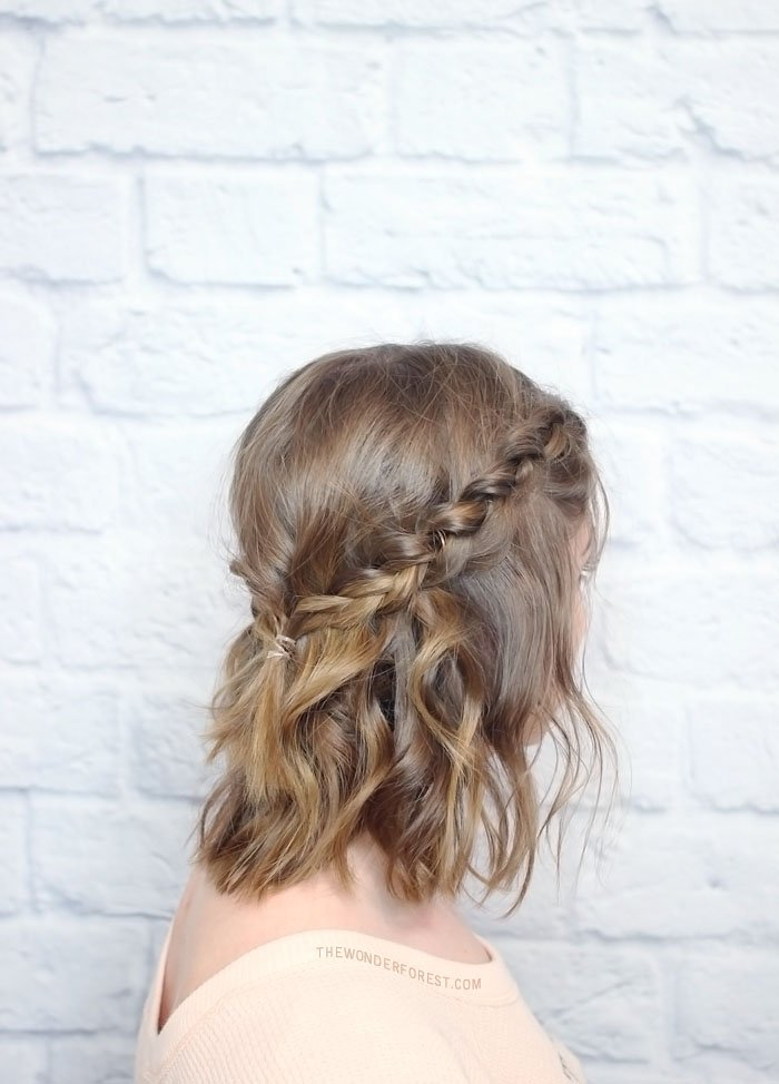 short hair crown braid