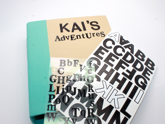 DIY Travel Journal - binder and letter sticker