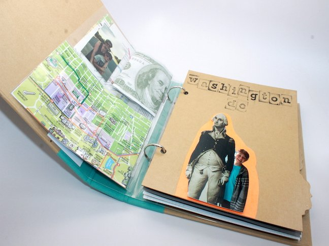 DIY Travel Journal inside pages