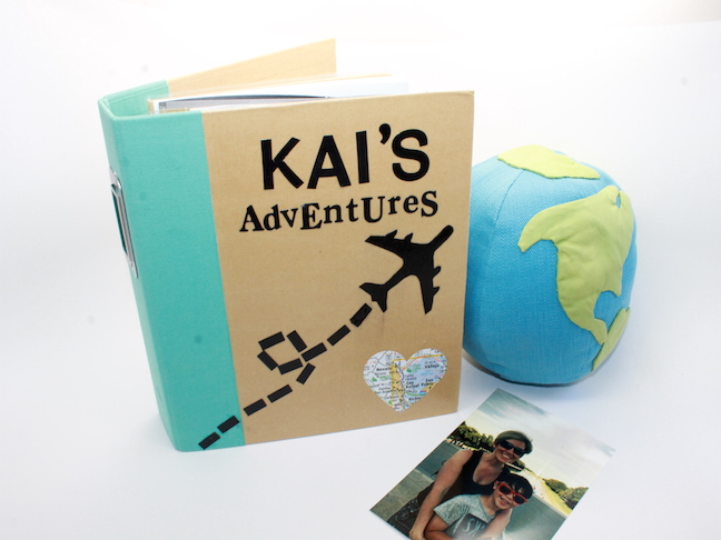 DIY Travel Journal with photo