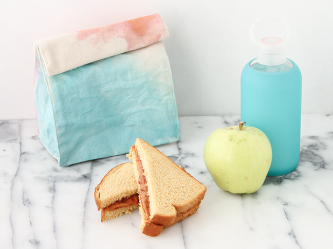 Make your own watercolour lunch bags for back to school