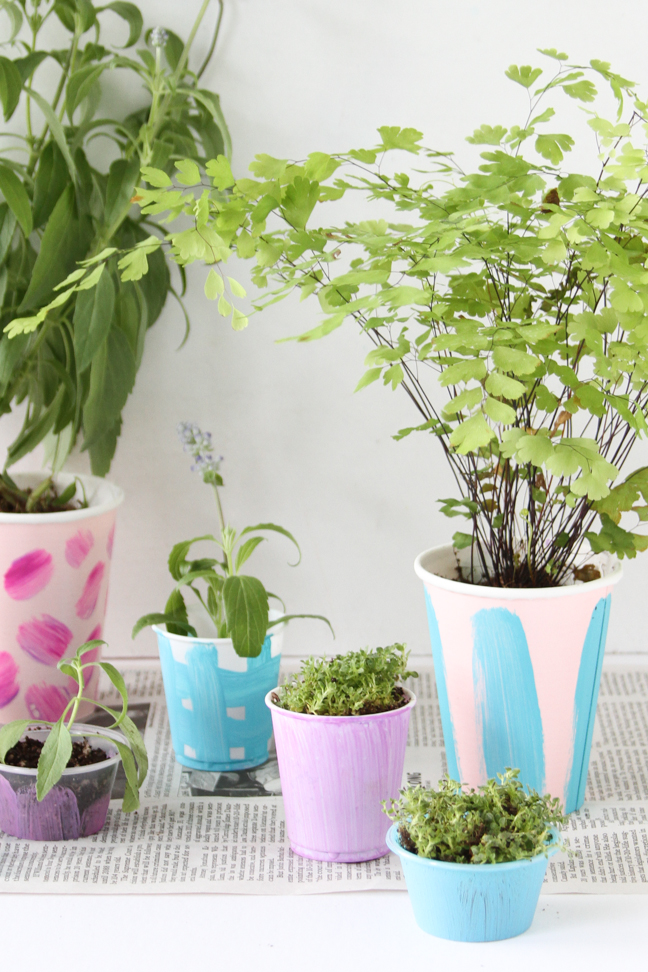 Easy DIY for Kids // Starter Pots Made from Cups