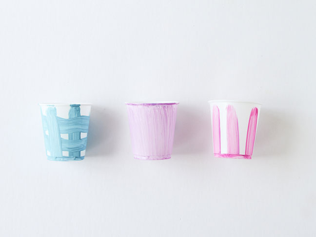 Painted Cups for Starter Plants