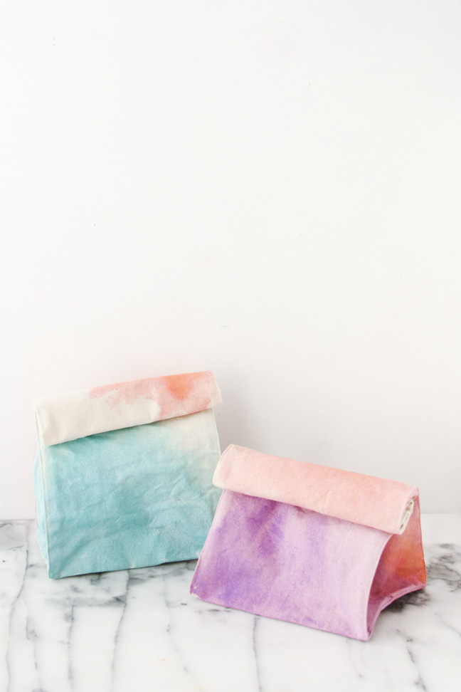 DIY Watercolour Lunch Bags