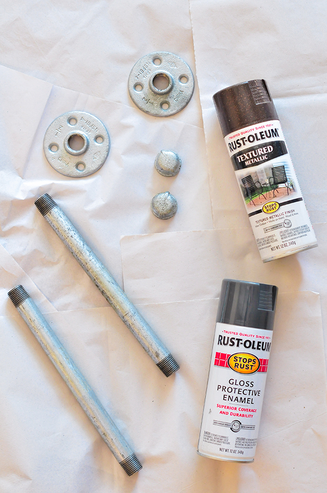 supplies for making industrial wall shelves