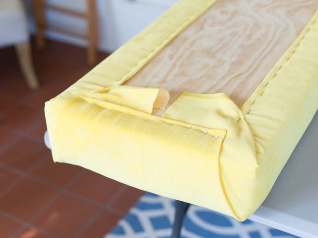 yellow-velvet-upholstery-for-bench
