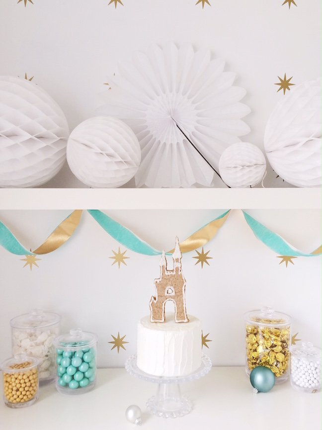 DIY Cinderella's Gingerbread Castle Cake Topper | Shauna Younge