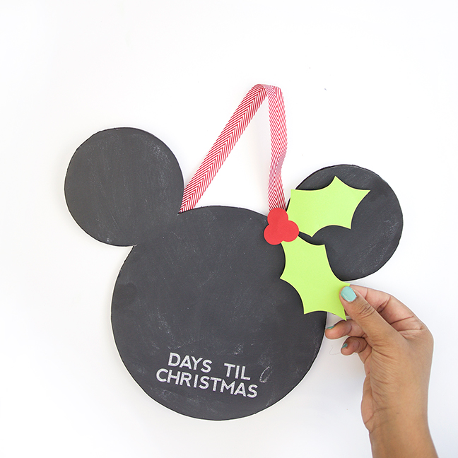 Mickey Countdown to Christmas Chalkboard