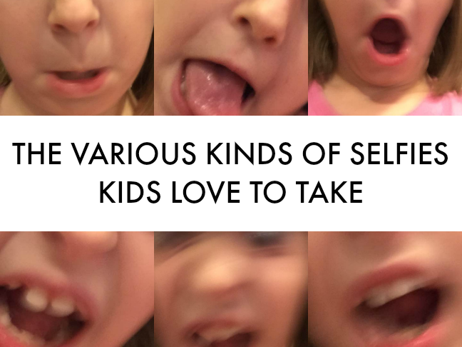 The Various Kinds of Selfies Kids Love to Take on @ItsMomtastic by @letmestart