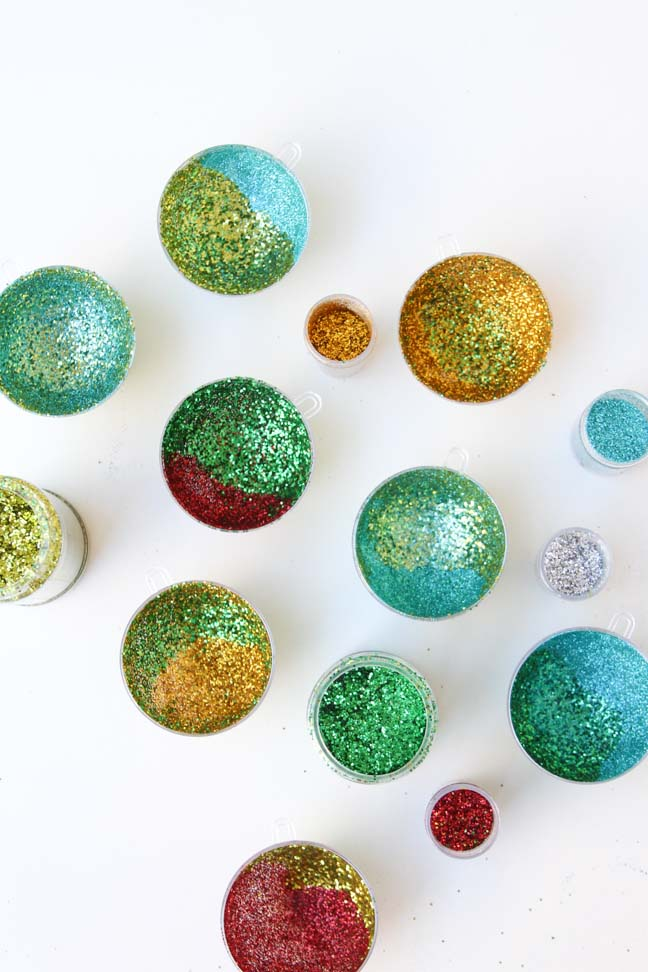 Holiday DIY // Glitter Ornament Project