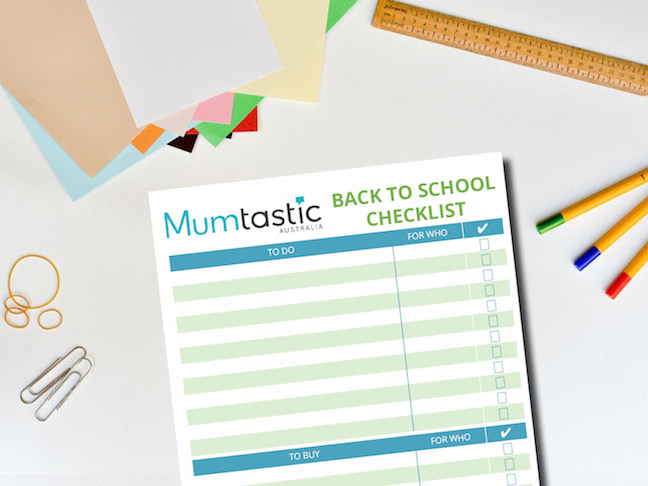 Back to school checklist - free printable