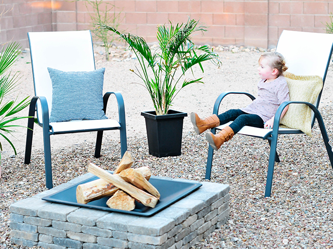 fire pit logs toddler