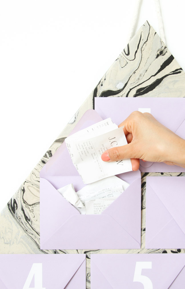 Easy DIY Receipts Organizer Idea