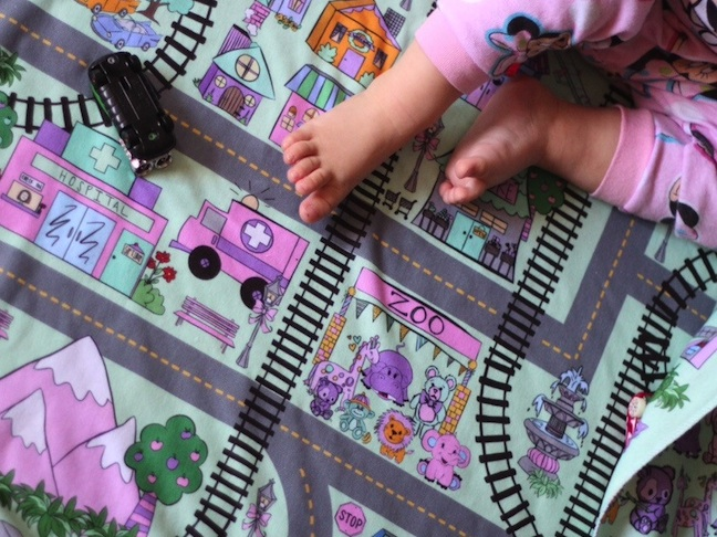 Personalized Play Town Blanket