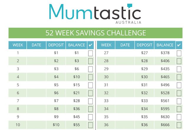 savings challenge image