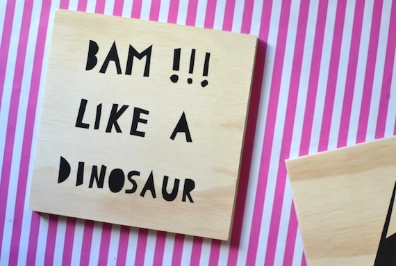 DIY Plywood Dinosaur Art