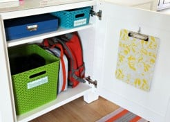16 School Bag Storage Ideas