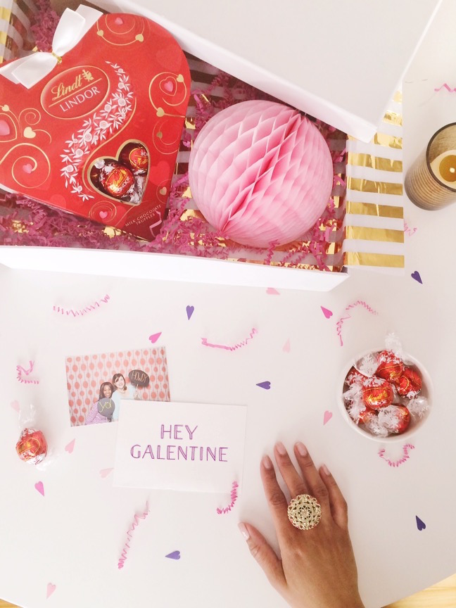 Be My Galentine! | 4 Ways to style LINDOR Truffles for Valentine's Gifts | Shauna Younge for Momtastic