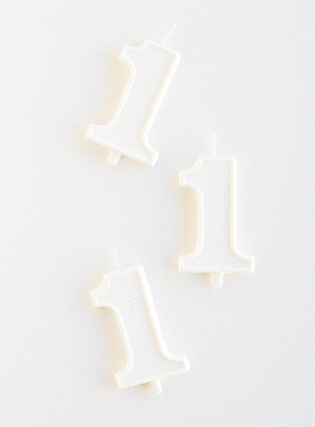 white chocolate birthday candles