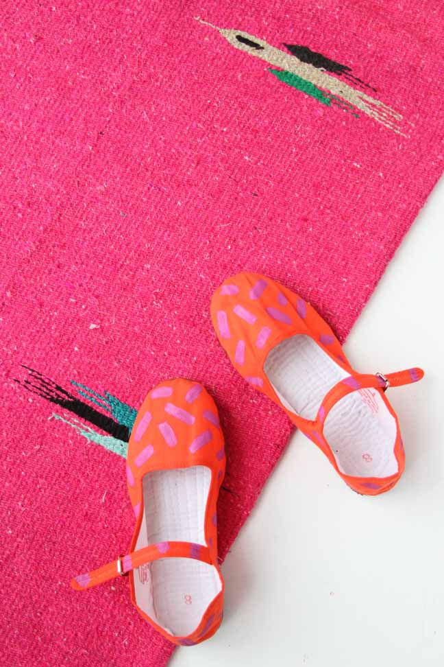 DIY Neon Painted Shoes