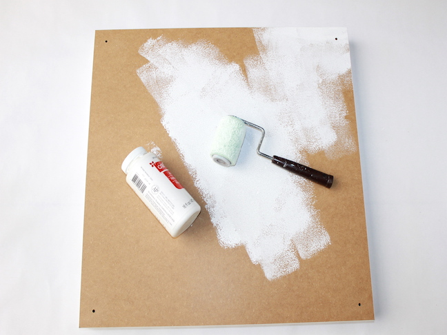 white paint mini roller