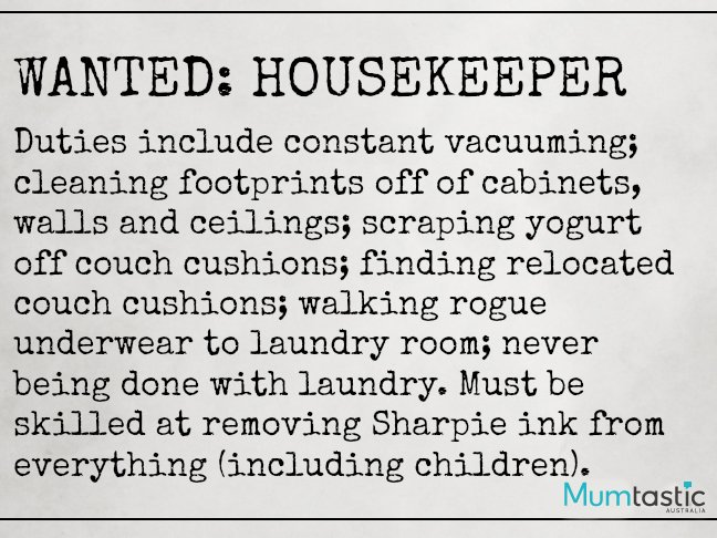 Classified Ads Mums can definitely relate to