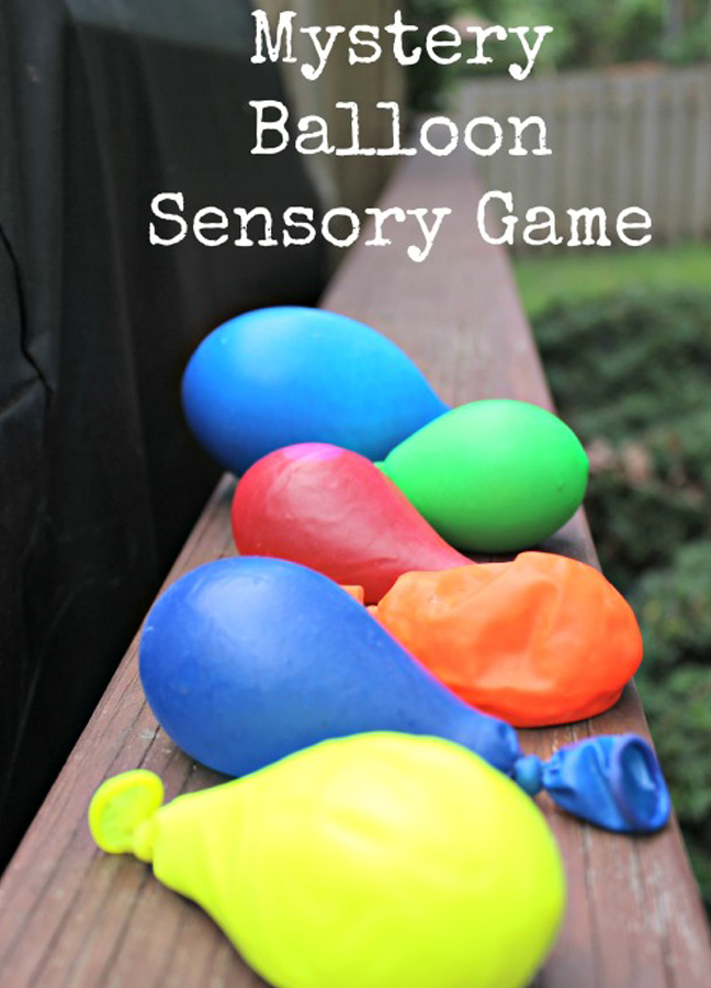 mystery balloon sensory game