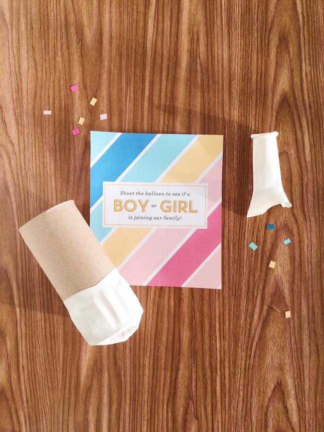 DIY Gender Reveal Confetti Cannons | Shauna Younge