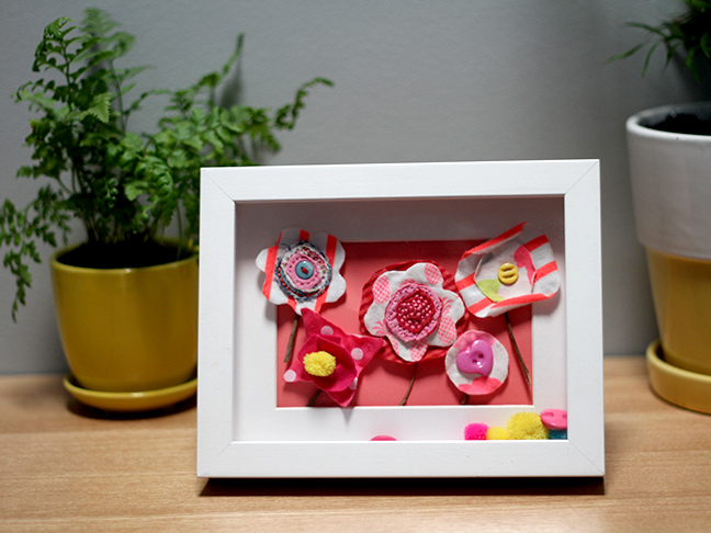 Fabric Flowers Frame