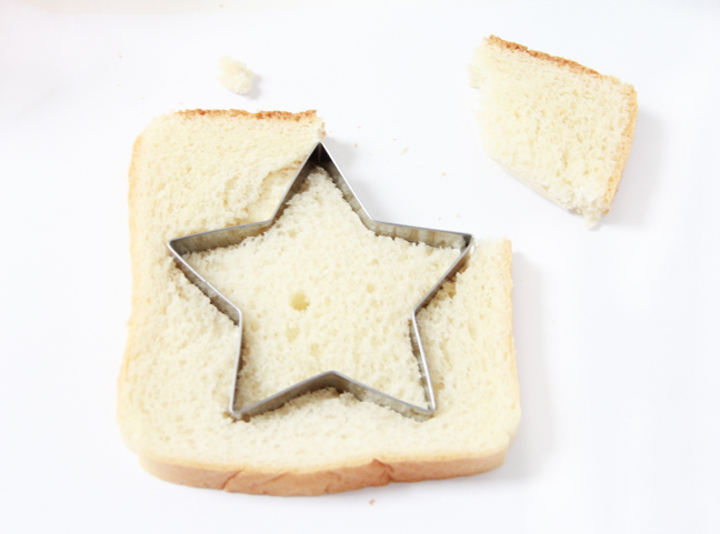 white bread star cookie cutter