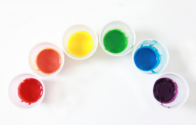 edible rainbow paint