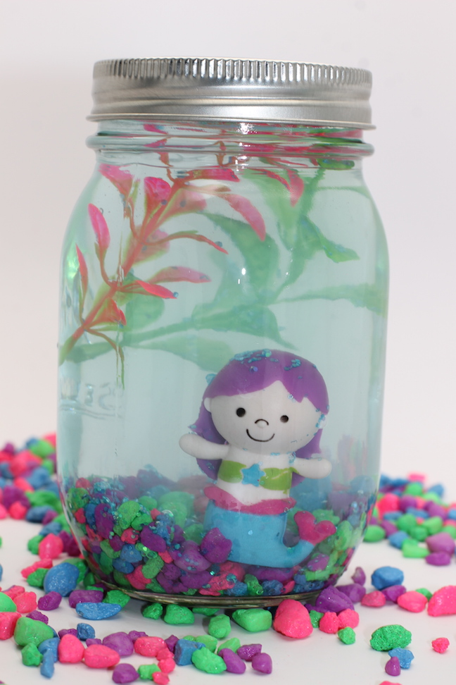 mermaid in mason jar